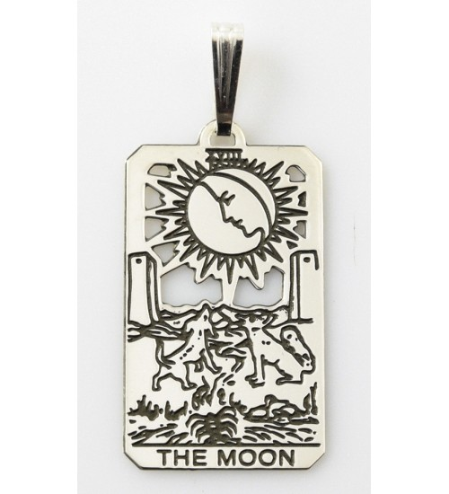 The Moon Small Tarot Pendant at All Wicca Store Magickal Supplies, Wiccan Supplies, Wicca Books, Pagan Jewelry, Altar Statues
