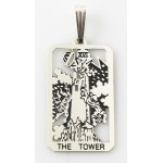 The Tower Small Tarot Pendant