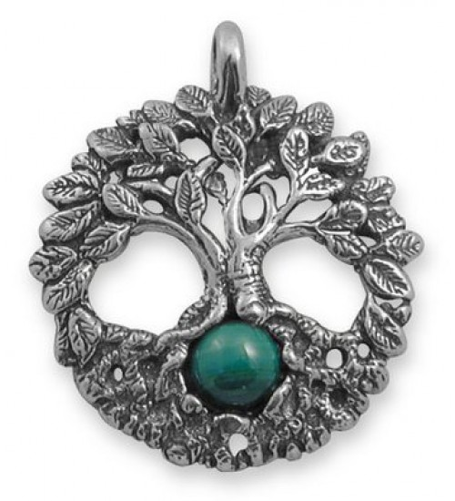 Celtic Tree of Life Sterling Silver Pendant with Gemstone at All Wicca Store Magickal Supplies, Wiccan Supplies, Wicca Books, Pagan Jewelry, Altar Statues