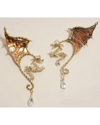 Winged Dragon Bronze Ear Wrap All Wicca Store Magickal Supplies Wiccan Supplies, Wicca Books, Pagan Jewelry, Altar Statues