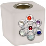 Chakra Flower Frosted Glass Mini Candle Holder