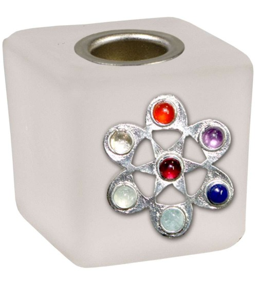 Chakra Flower Frosted Glass Mini Candle Holder at All Wicca Store Magickal Supplies, Wiccan Supplies, Wicca Books, Pagan Jewelry, Altar Statues