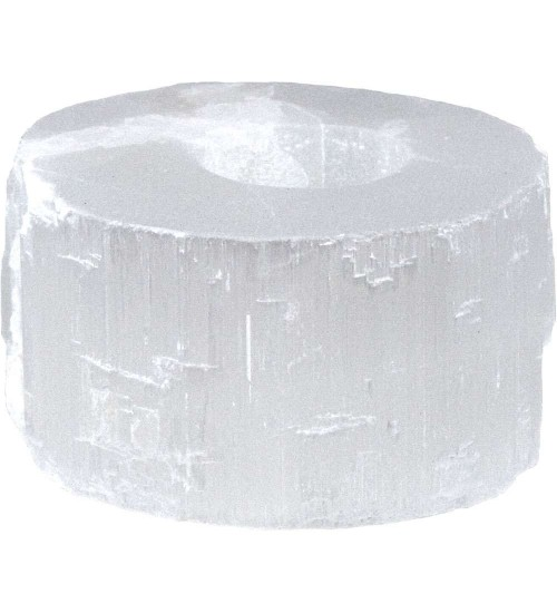 Selenite Flat Tea Light Candle Holder at All Wicca Magickal Supplies, Wiccan Supplies, Wicca Books, Pagan Jewelry, Altar Statues