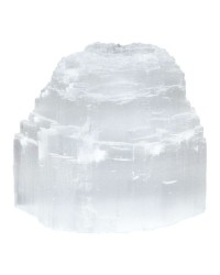 Selenite Natural Tea Light Candle Holder