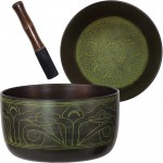 Green Flat Side 6 Inch Singing Bowl
