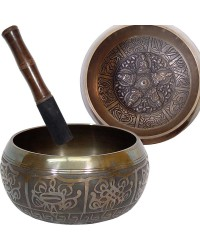 Dhyani Buddhas Large 6 Inch Embossed Singing Bowl All Wicca Store Magickal Supplies Wiccan Supplies, Wicca Books, Pagan Jewelry, Altar Statues