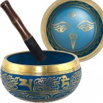 Eye of the Budha 6.5 Inch Blue Singing Bowl
