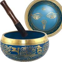 Eye of the Budha 6.5 Inch Blue Singing Bowl