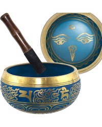 Eye of the Budha 6.5 Inch Blue Singing Bowl All Wicca Store Magickal Supplies Wiccan Supplies, Wicca Books, Pagan Jewelry, Altar Statues