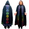 Black Chakra Hooded Ritual Cloak at All Wicca Store Magickal Supplies, Wiccan Supplies, Wicca Books, Pagan Jewelry, Altar Statues