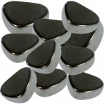 Magnetic Hematite Tumbled Stones - 1 Pound Bag