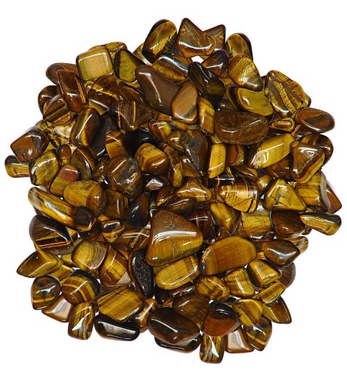 Tiger Eye Tumbled Stones - 1 Pound Bag at All Wicca Store Magickal Supplies, Wiccan Supplies, Wicca Books, Pagan Jewelry, Altar Statues