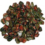Unakite Tumbled Stones - 1 Pound Bag