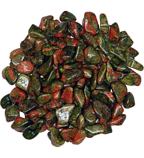Unakite Tumbled Stones - 1 Pound Bag at All Wicca Store Magickal Supplies, Wiccan Supplies, Wicca Books, Pagan Jewelry, Altar Statues