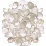 Clear Quartz Tumbled Stones - 1 Pound Bag