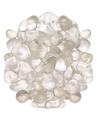 Clear Quartz Tumbled Stones - 1 Pound Bag