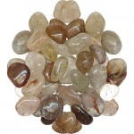 Rutilated Quartz Tumbled Stones - 1 Pound Bag