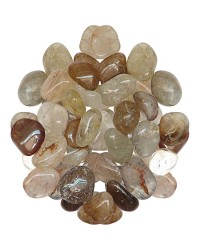 Rutilated Quartz Tumbled Stones - 1 Pound Bag All Wicca Store Magickal Supplies Wiccan Supplies, Wicca Books, Pagan Jewelry, Altar Statues