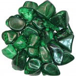 Malachite Tumbled Stones - 1 Pound Pack