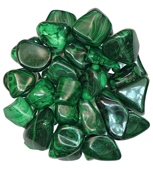 Malachite Tumbled Stones - 1 Pound Pack at All Wicca Store Magickal Supplies, Wiccan Supplies, Wicca Books, Pagan Jewelry, Altar Statues