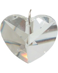 Crystal Prism Faceted Heart All Wicca Store Magickal Supplies Wiccan Supplies, Wicca Books, Pagan Jewelry, Altar Statues