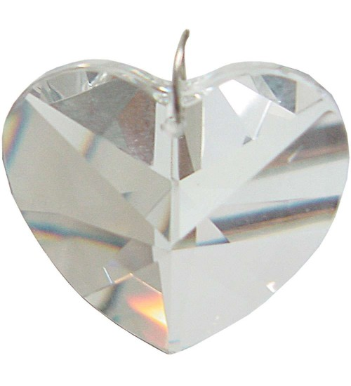 Crystal Prism Faceted Heart at All Wicca Store Magickal Supplies, Wiccan Supplies, Wicca Books, Pagan Jewelry, Altar Statues