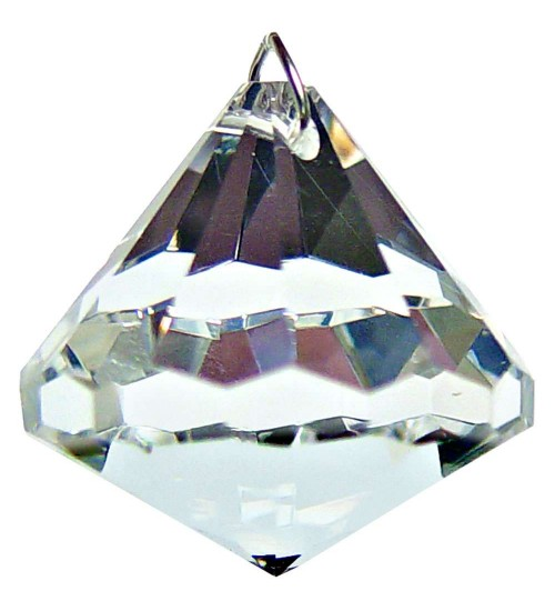 Crystal Prism Faceted Diamond at All Wicca Store Magickal Supplies, Wiccan Supplies, Wicca Books, Pagan Jewelry, Altar Statues