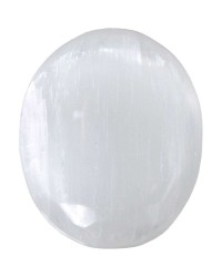 Selenite Worry Stone All Wicca Store Magickal Supplies Wiccan Supplies, Wicca Books, Pagan Jewelry, Altar Statues