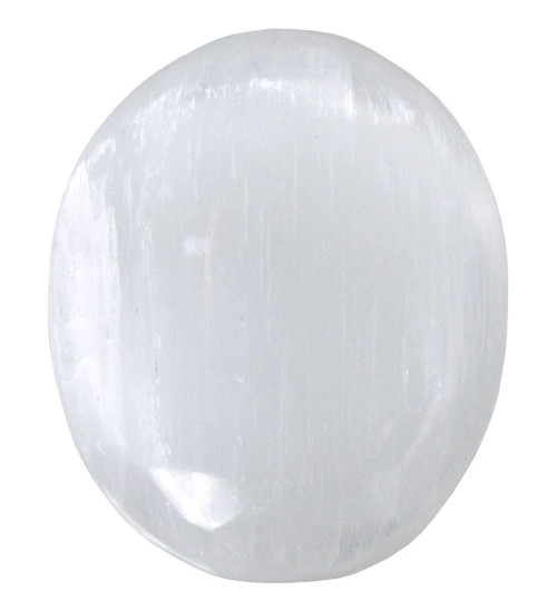 Selenite Worry Stone at All Wicca Store Magickal Supplies, Wiccan Supplies, Wicca Books, Pagan Jewelry, Altar Statues