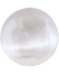 Selenite Gemstone Sphere All Wicca Store Magickal Supplies Wiccan Supplies, Wicca Books, Pagan Jewelry, Altar Statues