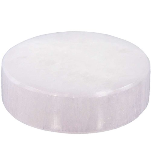 Selenite Charging Disk at All Wicca Store Magickal Supplies, Wiccan Supplies, Wicca Books, Pagan Jewelry, Altar Statues