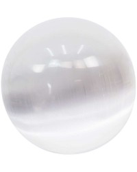 Selenite Gemstone Large Crystal Ball All Wicca Store Magickal Supplies Wiccan Supplies, Wicca Books, Pagan Jewelry, Altar Statues