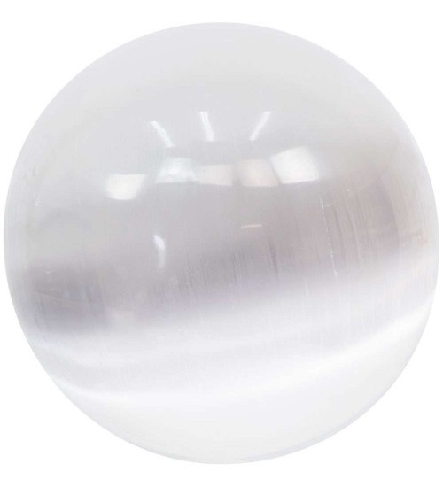 Selenite Gemstone Large Crystal Ball at All Wicca Store Magickal Supplies, Wiccan Supplies, Wicca Books, Pagan Jewelry, Altar Statues