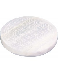 Flower of Life Selenite Charging Disk All Wicca Store Magickal Supplies Wiccan Supplies, Wicca Books, Pagan Jewelry, Altar Statues