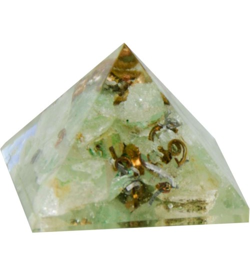 Aventurine Heart Chakra Orgone Pyramid at All Wicca Store Magickal Supplies, Wiccan Supplies, Wicca Books, Pagan Jewelry, Altar Statues