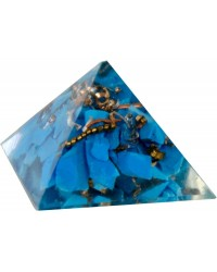 Turquoise Throat Chakra Orgone Pyramid All Wicca Store Magickal Supplies Wiccan Supplies, Wicca Books, Pagan Jewelry, Altar Statues