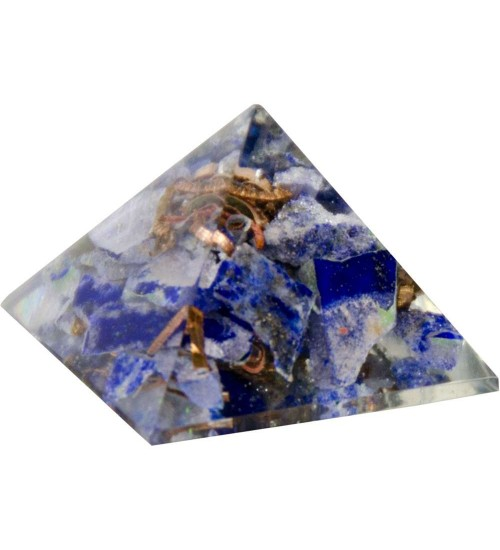 Lapis Third Eye Chakra Orgone Pyramid at All Wicca Store Magickal Supplies, Wiccan Supplies, Wicca Books, Pagan Jewelry, Altar Statues