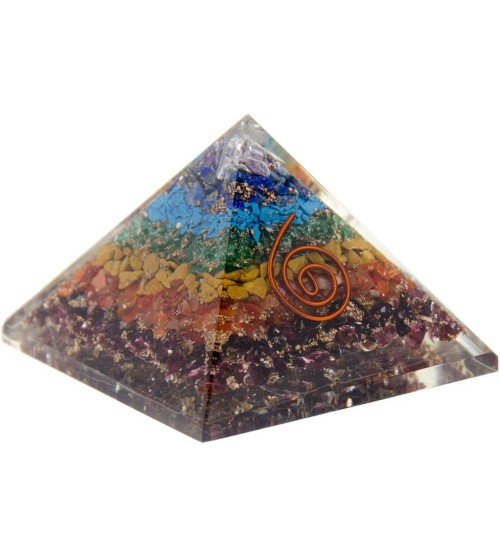 7 Chakras Orgone Pyramid at All Wicca Store Magickal Supplies, Wiccan Supplies, Wicca Books, Pagan Jewelry, Altar Statues