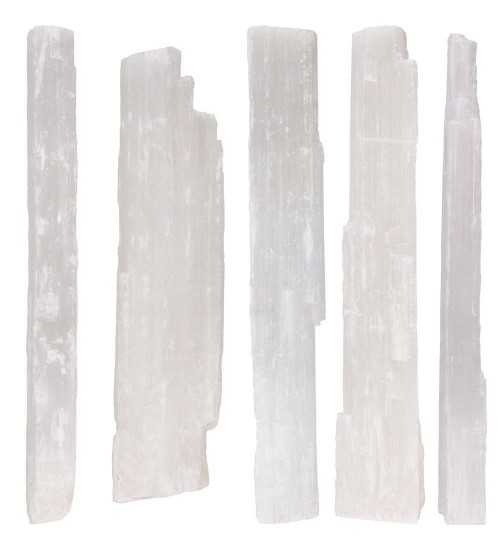 Selenite Rough Crystal Wands - 5 Pound Pack at All Wicca Store Magickal Supplies, Wiccan Supplies, Wicca Books, Pagan Jewelry, Altar Statues