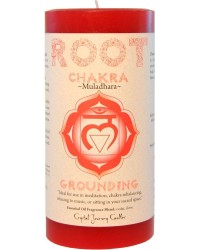 Root Chakra Red Pillar Candle All Wicca Store Magickal Supplies Wiccan Supplies, Wicca Books, Pagan Jewelry, Altar Statues