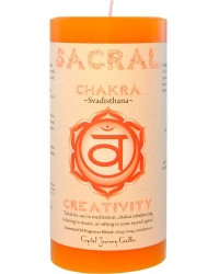 Sacral Chakra Orange Pillar Candle All Wicca Magickal Supplies Wiccan Supplies, Wicca Books, Pagan Jewelry, Altar Statues