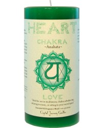 Heart Chakra Green Pillar Candle All Wicca Magickal Supplies Wiccan Supplies, Wicca Books, Pagan Jewelry, Altar Statues