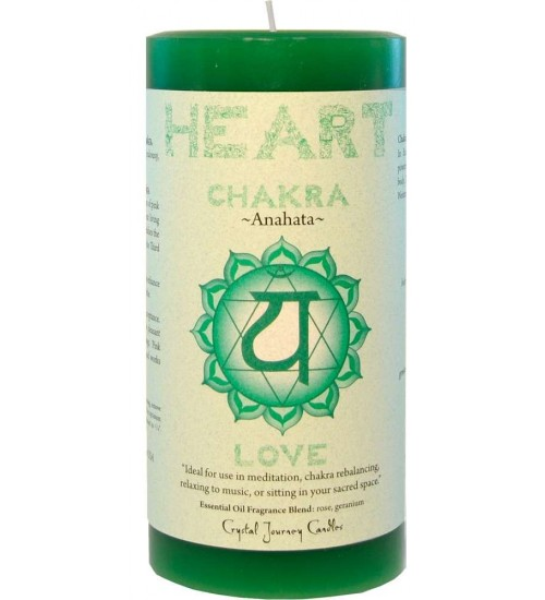 Heart Chakra Green Pillar Candle at All Wicca Store Magickal Supplies, Wiccan Supplies, Wicca Books, Pagan Jewelry, Altar Statues