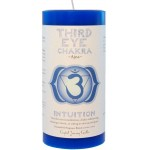 Third Eye Chakra Blue Pillar Candle