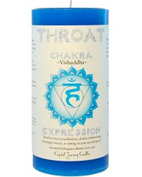 Throat Chakra Blue Pillar Candle All Wicca Store Magickal Supplies Wiccan Supplies, Wicca Books, Pagan Jewelry, Altar Statues