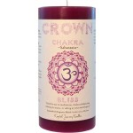 Crown Chakra Purple Pillar Candle