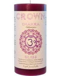 Crown Chakra Purple Pillar Candle All Wicca Store Magickal Supplies Wiccan Supplies, Wicca Books, Pagan Jewelry, Altar Statues