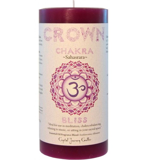 Crown Chakra Purple Pillar Candle at All Wicca Store Magickal Supplies, Wiccan Supplies, Wicca Books, Pagan Jewelry, Altar Statues