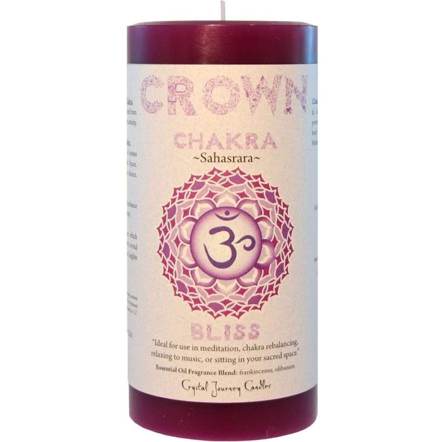 Crown Chakra Purple Pillar Candle