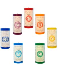 Chakra Pillar Candles - Set of 7 All Wicca Magickal Supplies Wiccan Supplies, Wicca Books, Pagan Jewelry, Altar Statues